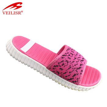 c7e91e402f95 New Design Knit Fabric Soft Slippers Women Slide Sandals - Buy Women ...