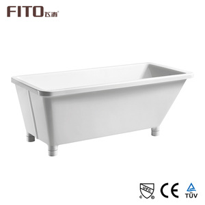 10 Years warranty good quality extra large square pedestal bathtub