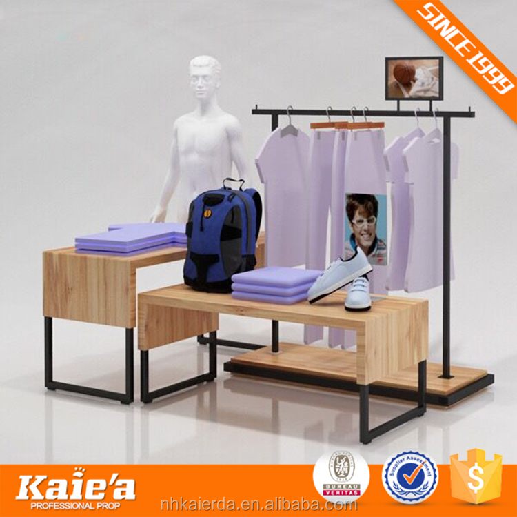 clothes shop metal display racks and stands for garments