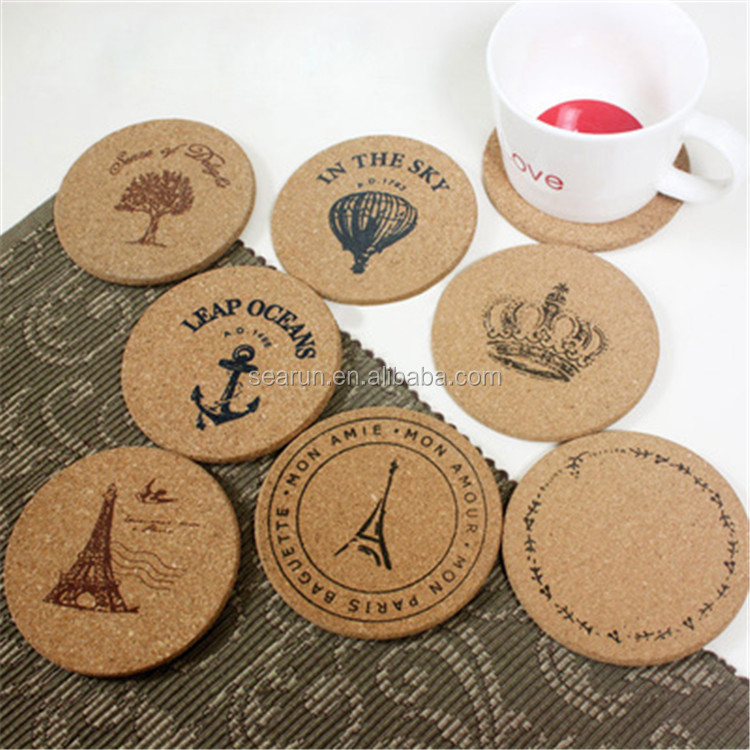 Customized Wooden Coffee Cup Coasters Wholesale