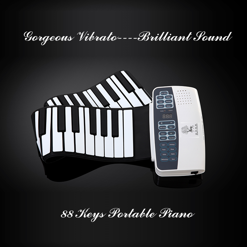 Hot Custom Soft portable flexible roll up electric piano 88 key keyboard digital piano china price