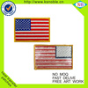High quality custom USA flag embroidered patches