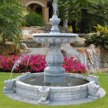 Innovative Front Yard And Backyard Marble Water Fountain Designs