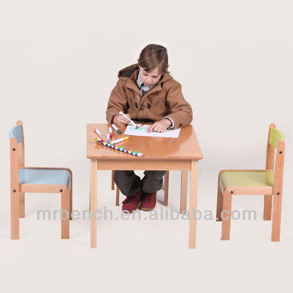 wood children study desk and chair set