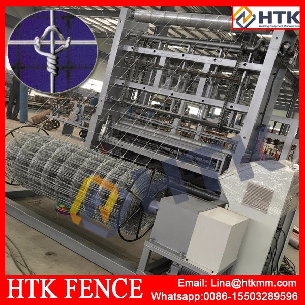 Fixed Knot Game Fence Machine iron wire fencing making/hot dipped or elctric galv.ring lock fence making machine/Feild fence
