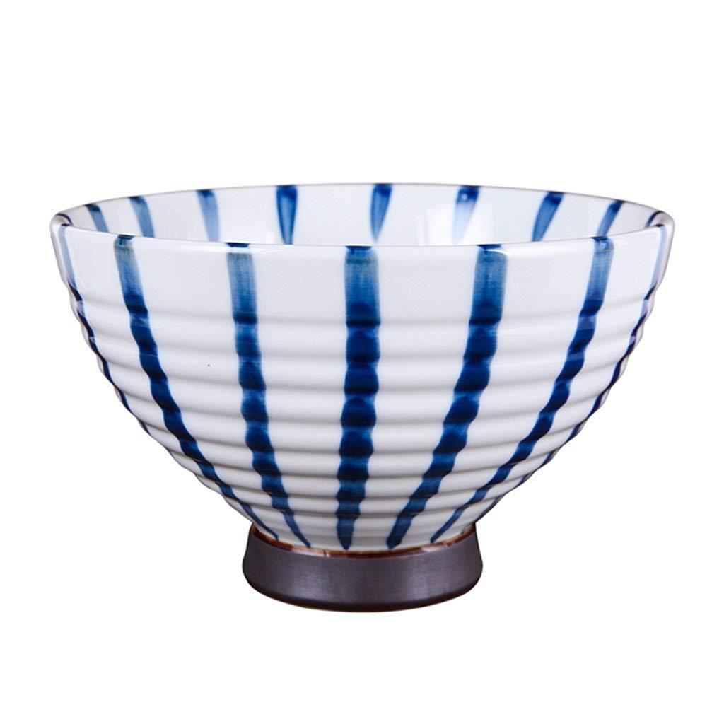 Bowls Bowl bowls Hand-painted rice bowls Soup bowls Bowls Bowls Hot bowls (Color : Blue, Size : 6.8 inches)