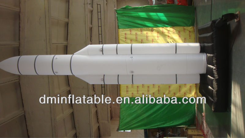 Factory pvc inflatable rockets , missile YP-17