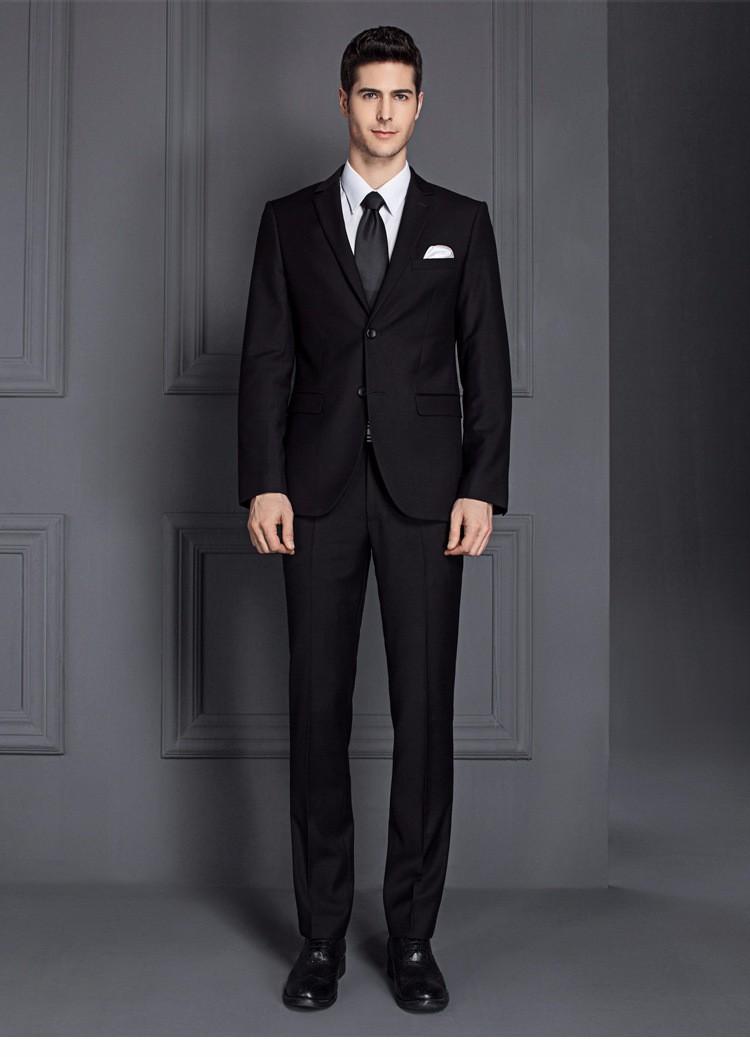 2 Piece Office Uniform Design Formal Top Brand Coat Pant Men Suit ...