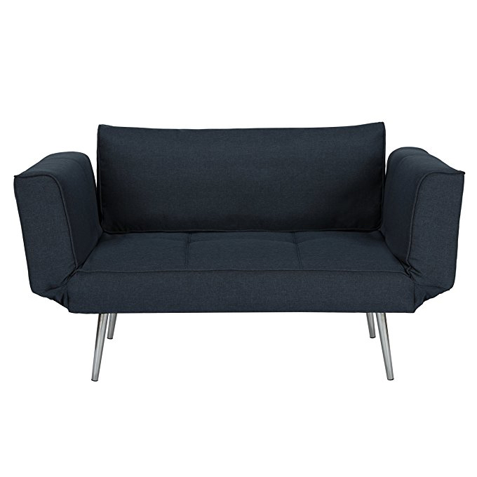 Modern Leisurely Small 2 Seater Sofa One Person Bed With Folding Armrestetal Legs Product On