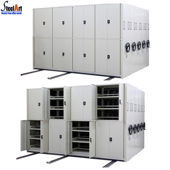 Large Capacity Filing Cabinet With Tracks Mobile File Compactor/mass Shelves