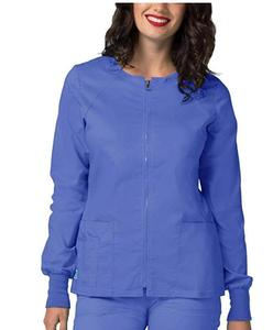 plus size clothing stretch nursing uniform scrubs jacket for women