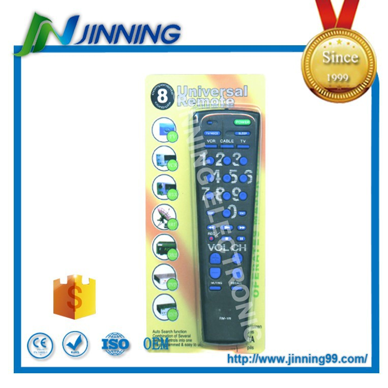 8 in 1 universal remote control , good quality remote control RCA for all market