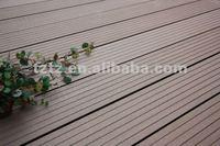 Flexible wood plastic bamboo outdoor deck flooring covering