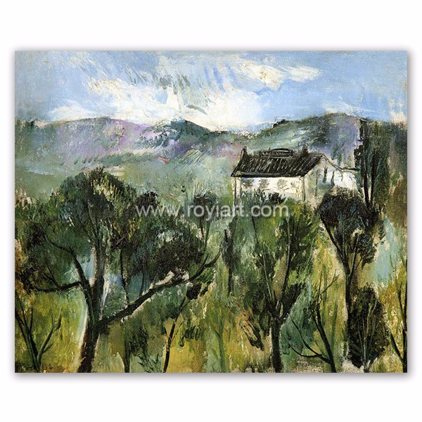 Home decor hotel wall art landscape abstract canvas oil painting