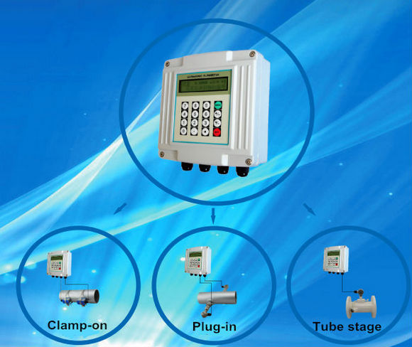 high accuracy ultrasonic water flowmeter clamp on with reasonable price