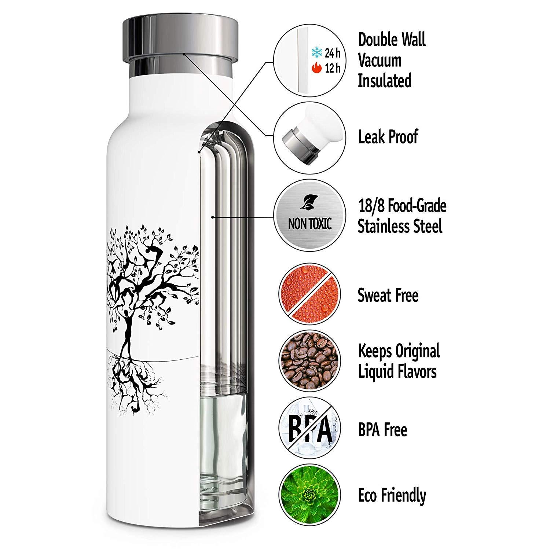 12 unzen 17 unzen 20 unzen 25 unzen 34 unzen Breiten Mund Trinkwasser BPA FREI Leak Proof Vakuum Doppel Wand thermos Metall Edelstahl Wasser Flasche
