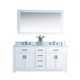 homedee 60 inch double sink solid wood bathroom vanity