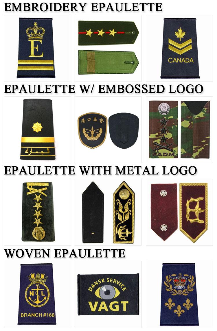 Custom Military Embroidered Epaulet Uniform Shoulder Boards - Buy Custom  Army Shoulder Marks,Epaulette Shoulder Boards,Pilot Uniform Shoulder Boards