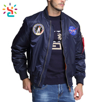 Custom aviator Bomber wholesale fashion 2018 men winter jacket from clothing manufacturers