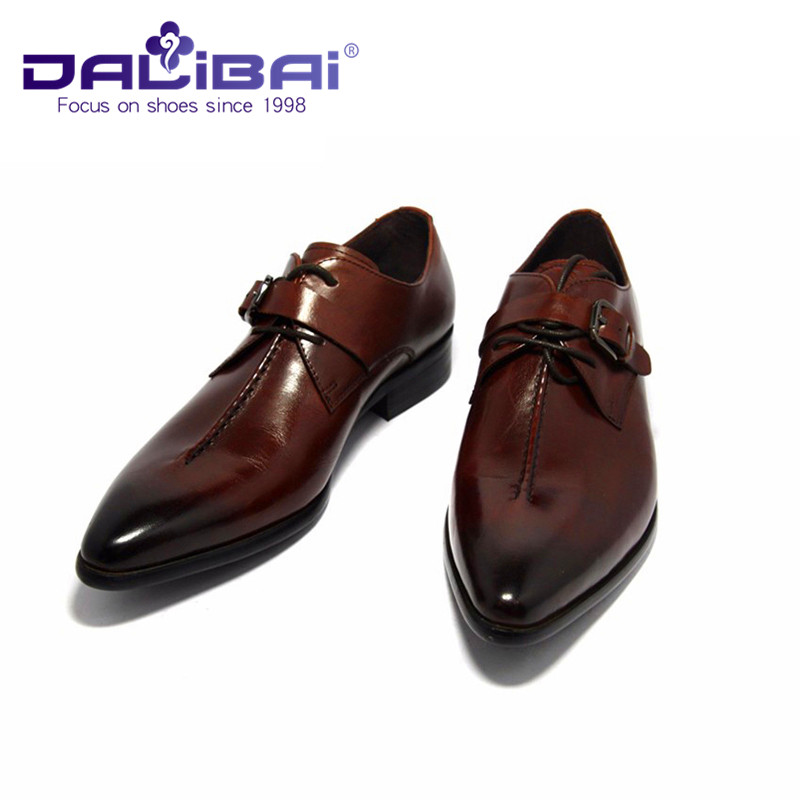 With Leather Three Dress Color Material Shoes Men Cow Black Y0dtPYq