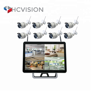 1080p ip wireless wired camera free software WIFI cctv system support wired connect 200m distance security surveillance 4 camera