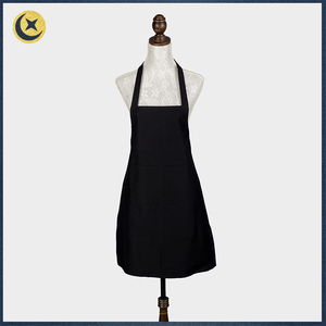 Low price of custom plain black wholesale cotton aprons for cooking