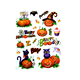 2017 New Halloween Party Funny Pumpkin Lantern Window Sticker