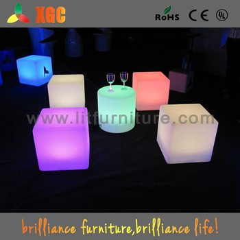 Glowing Ottoman Cubes/led Cube Lighting Chair/kids Cube Chair
