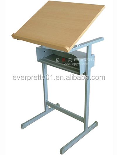 School Furniture Student Use Wood Drafting Table