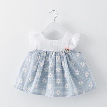 Lm2961 Q 2017 Summer Party Dresses Little Baby Cotton