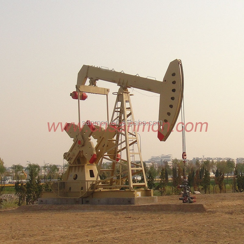 API 11E standard oil and gas well production beam pumping unit