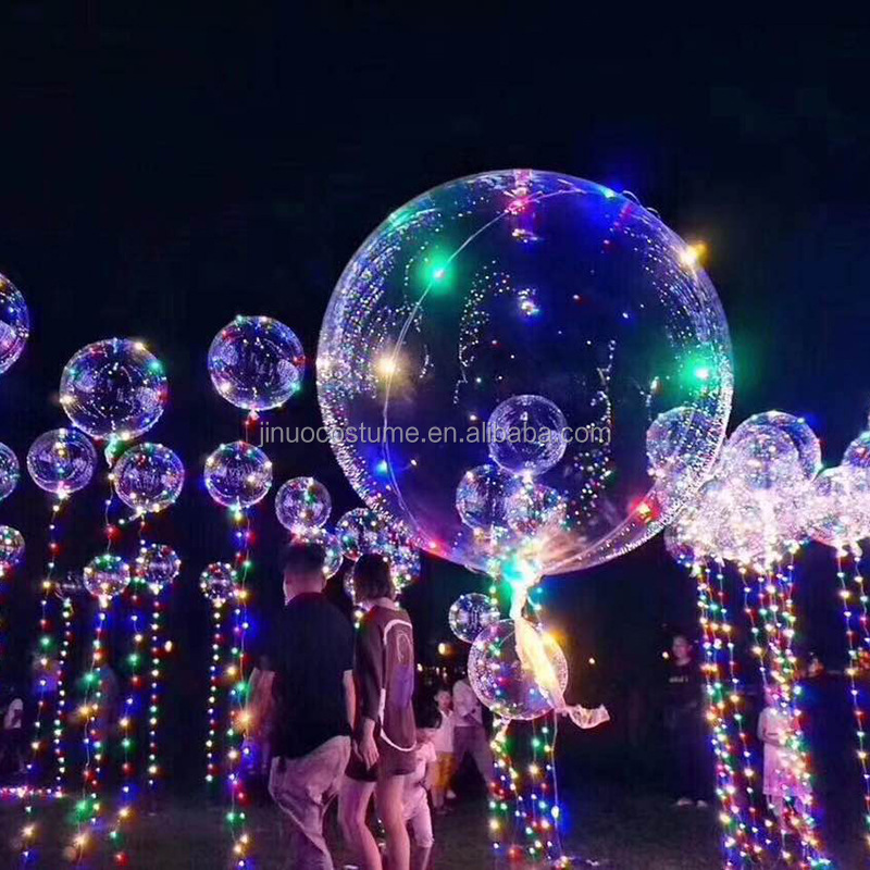 Party wedding stage decoration lighted wholesale bobao balloon led string bubble balloon