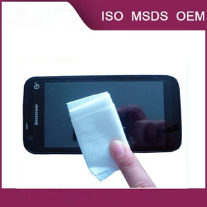 individual wrapped antibacterial screen cleaning wipe paper for mobile phone or computer