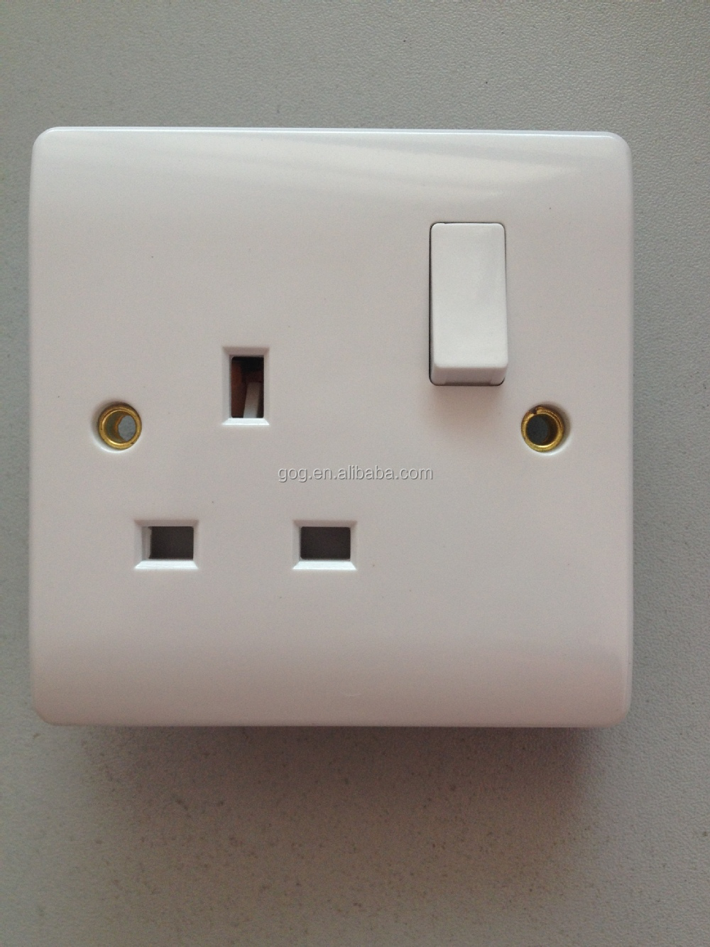 Single/double 13a Electrical Socket,13amp Uk Wall Switched Socket ...