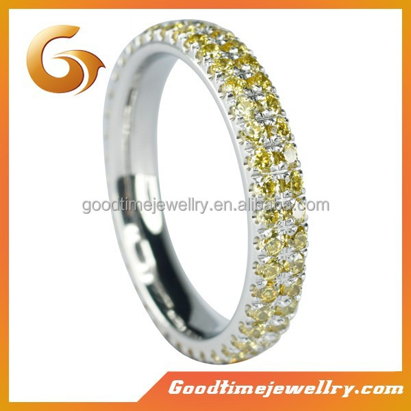 womens stainless steel wedding rings,with AAAA CZ stones inlaid