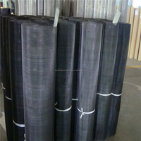 plain woven black wire mesh cloth