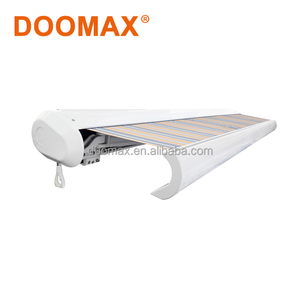 Motor and Manual Whole Cassette Fabric Retractable Awning