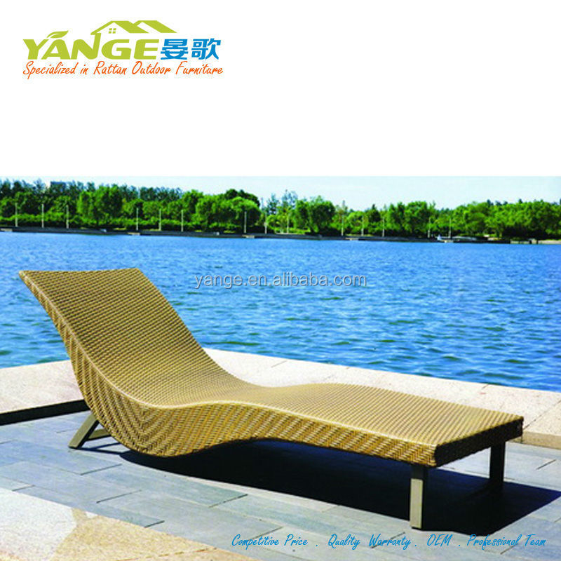 Outdoor Furniture White Rattan Wicker Sun Lounge Chaise Hotel Swimming Pool  Lounge - Buy Outdoor Furniture Rattan Wicker Beach Lounge Pool Sun ...