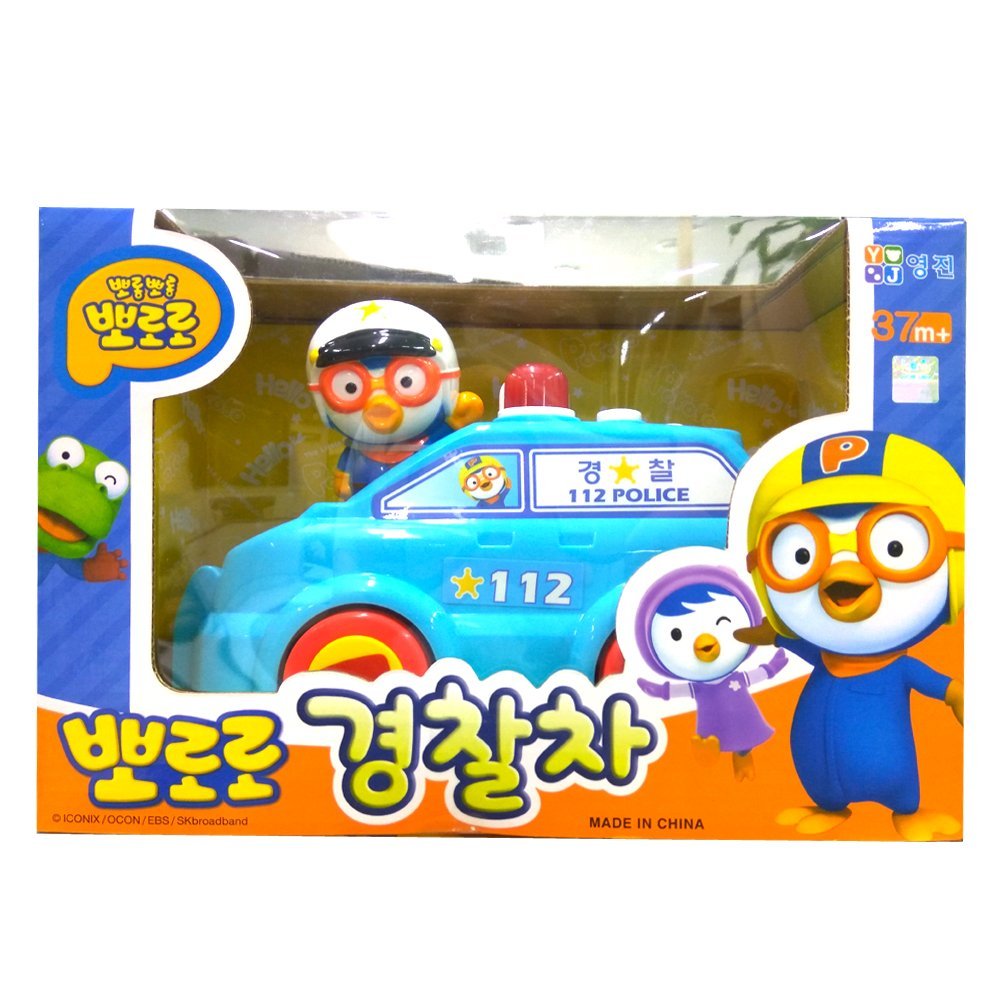 Pororo Police Car Figure Toy 5 Melodies Automatic Move