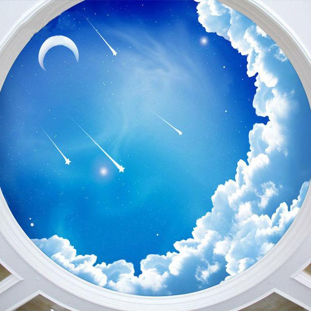blauen himmel fototapete 3d galaxy tapete sterne mond. Black Bedroom Furniture Sets. Home Design Ideas