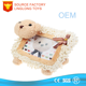 Soft Toys 3D Photographic Studio Large Photo Frame Plush Cartoon White Picture Frame Felpa Teddy Bear Photo Frame