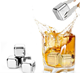 Stainless Steel Ice Cubes Whiskey Stones Reusable Ice Cubes Chilling Stones Rocks for Wine