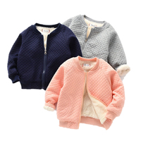 High quality 2019 winter clothing kids clothes 100% cotton girls coats for wholesales