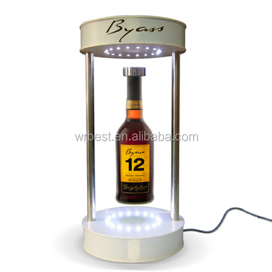 magnetic floating bottle display stand,magnetic levitating display stand,acrylic floating display stand