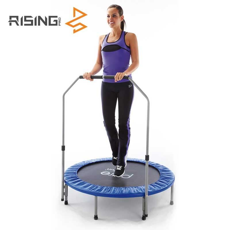 Professional Gymnastics Fitness Mini Trampoline With Handle Bar
