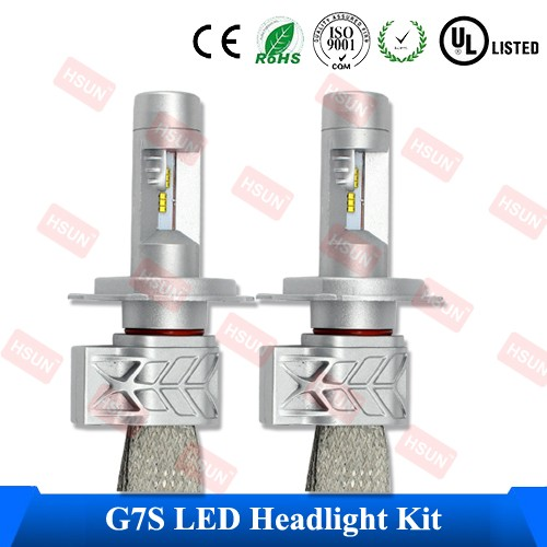 2016 Nuevo H1 H3 LED lámpara de cabeza y H8 H9 H11 H4 H7 bombilla led para 9005 9006 auto Coche LED faro Hola/lo chips ZES HB3 hb4