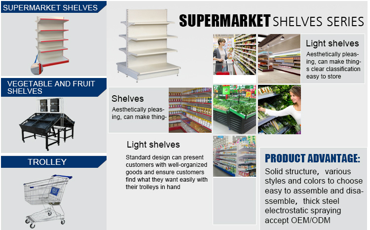 Brand New Custom Fitted Shelves For Supermarkets New