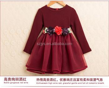 589bf1519c7f0 Últimas mayorista 1-6 años vestido niña navidad del invierno de manga larga  vestido de