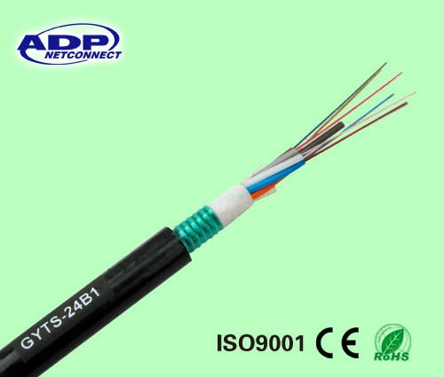 Uni-tube Steel Wire Armored Aerial or Duct Optical Fiber Cable GYXTS