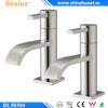 Beelee BL50304 Chrome Plated Pair Bath Faucet Solid Brass Hot & Cold Twin Bathtub Bath Taps